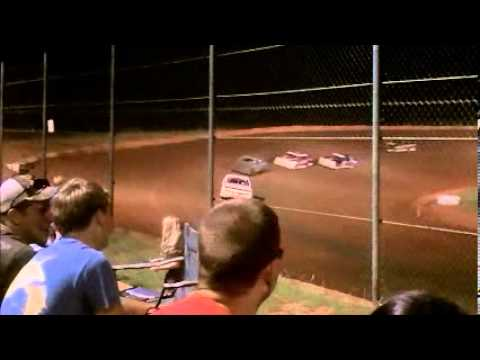 Deep South Speedway  Bomber Feature 07 Jul - Wrecks, Fires and hot racing