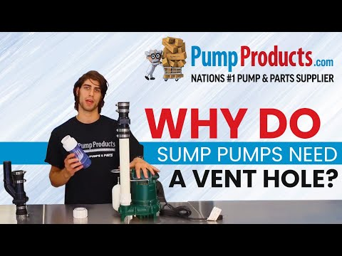 Why Your Sump Pump Needs A Vent Hole Youtube