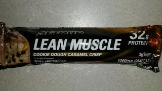 Detour Lean Muscle Cookie Dough Caramel Crisp | Protein Bar Review