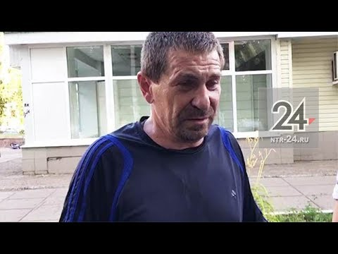 Опубликовано видео задержания нижнекамского угонщика, которого разыскивали с 13 июля