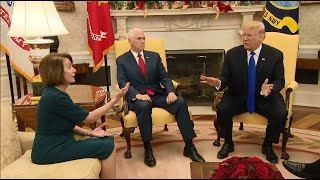 Raw Video: Trump Meeting With Pelosi, Schumer Becomes Heated