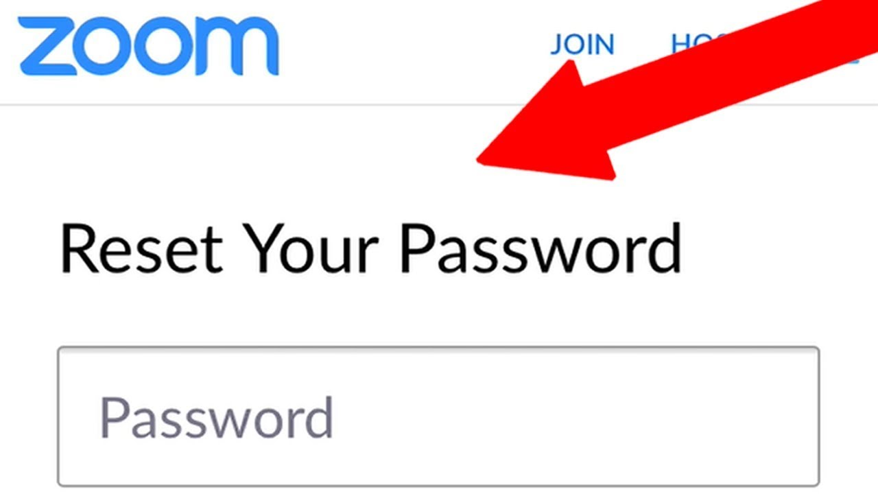 How to Reset Zoom Password if You Forgot Your Password - YouTube
