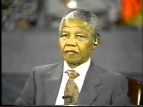 1990 Town Hall Meeting with Nelson Mandela on Palestine with Ted Koppel  Part 1