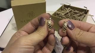 Фото Серьги 094028 из красного золота 585 пробы с бриллиантами