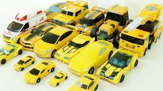 Yellow Color 16 Cars Transformers Carbot Tobot Miniforce Robot Car Toys 노란색 트랜스포머 헬로카봇 또봇 자동차 장난감 변신
