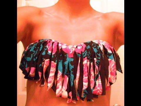 05df181ce como hacer trajes de baño con flecos - YouTube