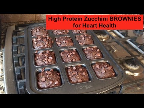 High Protein Zucchini BROWNIES for Heart Health | BTH 76