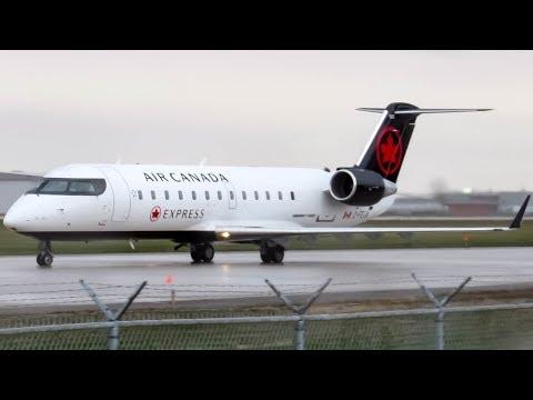 "Air Canada Express ""New Livery"" CRJ-200 (CRJ2) landing & departing Montreal (YUL/CYUL)"