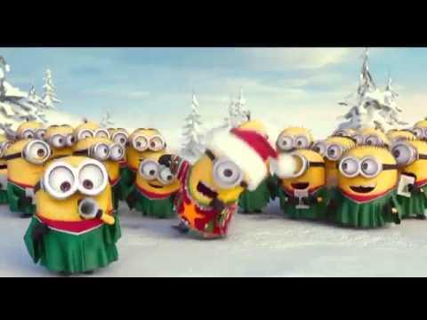Los minos cantando felis navidad