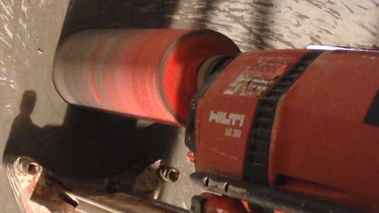 kernbohrung beton hilti dd350 - youtube
