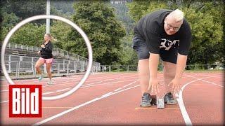 Hans Entertainment im Olympia-Test - 100 Meter Lauf
