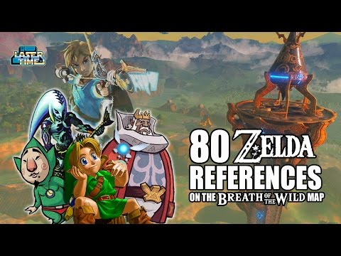 Breath of the Wild – 80 Map References Explained – Laser Time