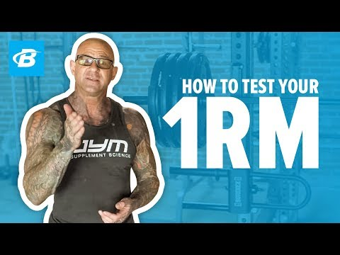 How to Test Your 1 Rep Max | Jim Stoppani, PhD from YouTube · Duration:  8 minutes 22 seconds