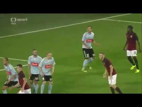 Evropská Liga play off - Jakub Brabec goal