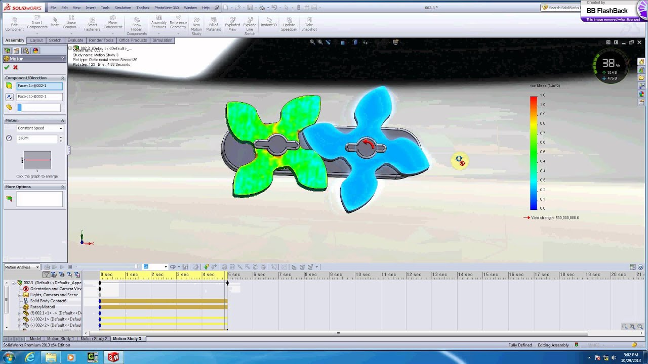CAD CAM Tutorial - Bevel and Spur gear motion Study in ...