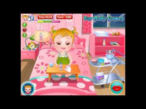 Бесплатные игры онлайн  Baby Hazel Stomach Care  Малышка Хейзел Болезнь, игра для детей
