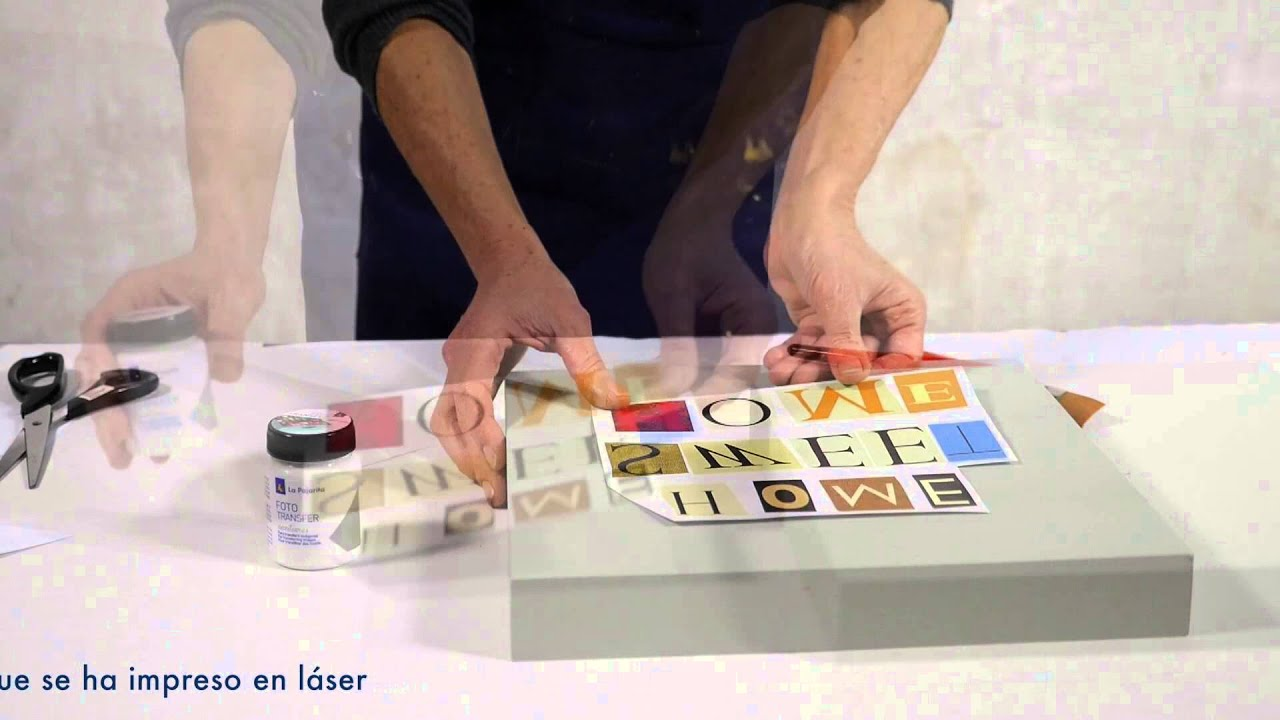 Foto Transfer y Chalk paint - YouTube