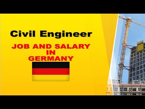 Civil Engineer Salary In Germany Jobs And Wages In Germany Youtube