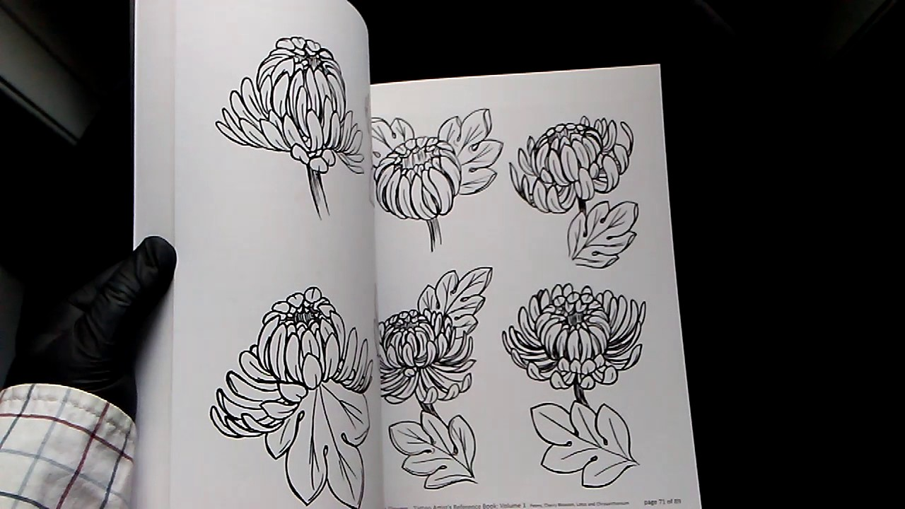 Illustrative Asian Flowers Tattoo Artists Reference Book Volume