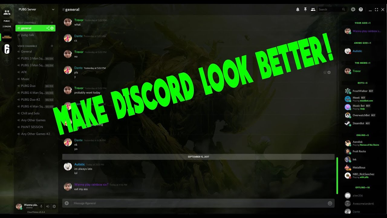 HOW TO MAKE DISCORD LOOK BETTER (BetterDiscord Tutorial)