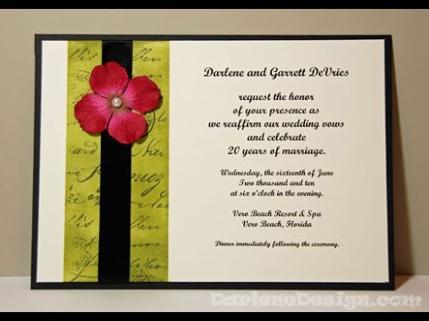 Wedding Vow Renewal Invitation YouTube – Renewal of Vows Invitation Cards