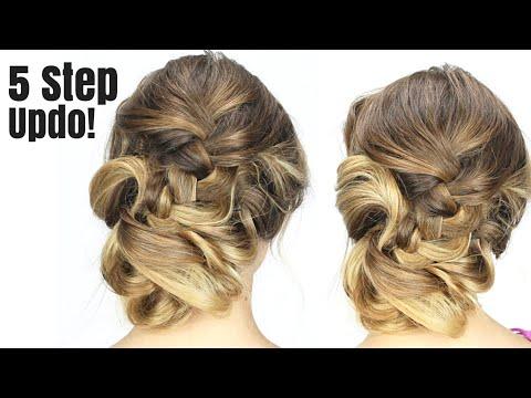 formal updo in just 5 steps hair tutorial   youtube