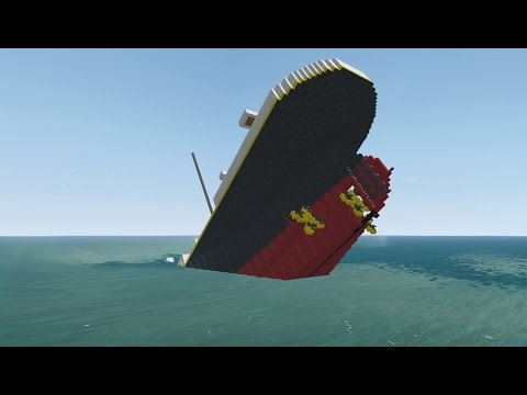 From the Depths! Sinking Titanic Project, (Minecraft Design)