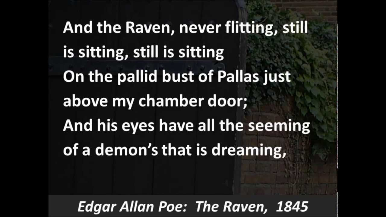 an overview of the poem the raven by edgar allan poe This video introduces edgar allan poe's 'the raven' through poe's use of poetic devices and dark romantic characteristics, he is able to achieve.