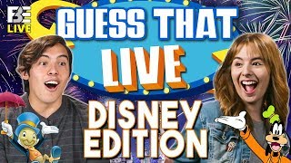 Multiple Generations playing every week! https://www.twitch.tv/fbelive  SUBSCRIBE & hit the 🔔! https://goo.gl/nPfvis  Join returning winners, Mikaela & Alberto as they face off against new challengers, Dionte and Chelsea in episode 2 of Guess That Live: Disney Edition!  Cast: Emily https://www.youtube.com/emilytangerine Alberto https://www.youtube.com/beansproutfilms Mikaela, age 19 https://www.youtube.com/mikaelapascal Dionte https://www.instagram.com/dapper_macon2.0/ Chelsea https://www.instagram.com/whoischelsea/  MERCH 👕 https://www.shopfbe.com  Follow Fine Brothers Entertainment: FBE WEBSITE: http://www.finebrosent.com FBE CHANNEL: http://www.youtube.com/FBE REACT CHANNEL: http://www.youtube.com/REACT BONUS CHANNEL: https://www.youtube.com/FBE2 FACEBOOK: http://www.facebook.com/FBE FACEBOOK: http://www.facebook.com/FBEShows TWITTER: http://www.twitter.com/fbe INSTAGRAM: http://www.instagram.com/fbe SNAPCHAT: https://www.snapchat.com/add/finebros SOUNDCLOUD: https://soundcloud.com/fbepodcast iTUNES (Podcast): https://goo.gl/DSdGFT GOOGLE PLAY (Podcast): https://goo.gl/UhL6bk MUSICAL.LY: @fbe TWITCH: https://www.twitch.tv/fbelive AMAZON: https://www.amazon.com/v/FBE  SEND US STUFF: FBE P.O. BOX 4324 Valley Village, CA 91617-4324  Executive Produced by Benny Fine & Rafi Fine Head of Post Production - Nick Bergthold Director of Production - Levi Smock Supervising Producer - Vincent Ieraci Producer - Omar Samad Jr. Producer - Niomi Young Production Coordinator - Alberto Aguirre Assistant Production Coordinator - Kristy Kiefer Studio Technician - Sam Kim Production Assistant - Jayden Romero & Oscar Ramos & Stephen Miller & Lauren Hutchinson & Kyllis Jahn & Micah Kearny Associate Editor - Austin Miller Director of Post - Adam Speas Post Supervisor - David Valbuena Set Design - Melissa Judson Graphics & Animation - Will Hyler Theme Music - Cyrus Ghahremani  © Fine Brothers Entertainment.  Guess That Live #1 | Halloween Edition