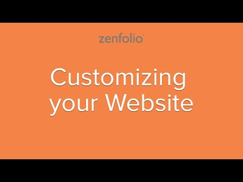 How to Customize your Website - use our built in tools to de
