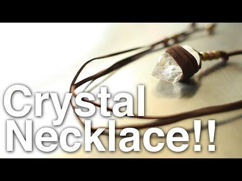 DIY Crystal Necklace + Giveaway!! [CLOSED]