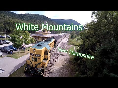 Modelling Railroad Train Scenery -White Mountains Aerial Tour – New Hampshire