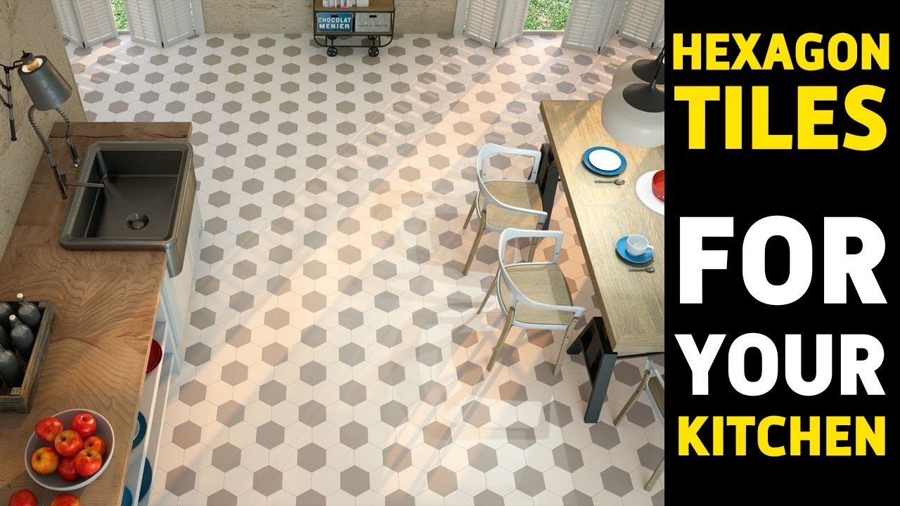 Hexagon Tiles Floor For Kitchen In 2017 50 Desing Ideas Youtube