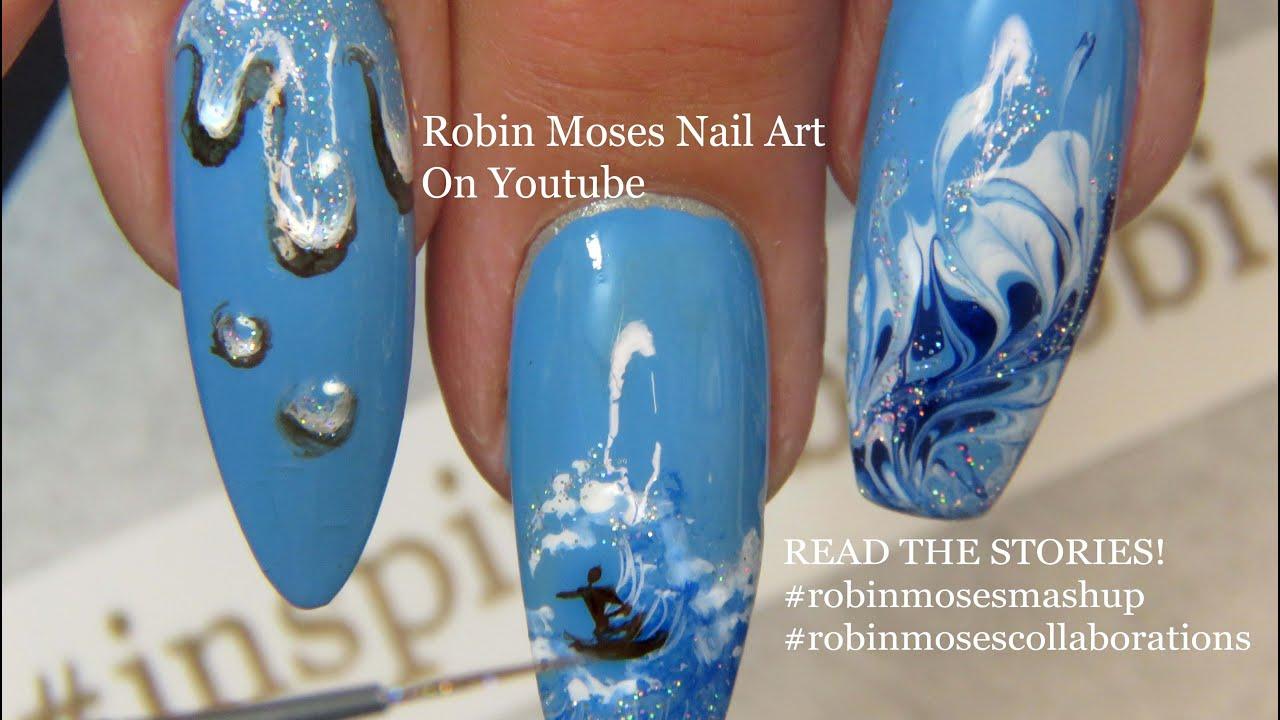 Nails Art: ANNOUNCEMENT + WATER Nail Art Design Tutorial