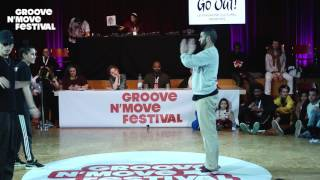 GROOVE'N'MOVE BATTLE 2017 - 1/4 Final All Style - Valmira & Boogito vs Perla & Poppin c (DBZ)