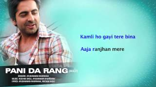 Pani Da Rang (Male) Full Song with Lyrics - Vicky Donor