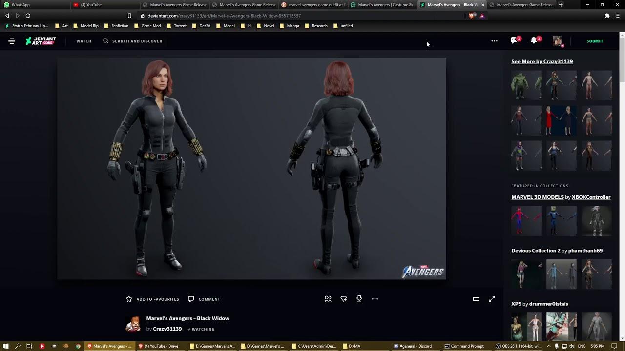 Download Tutorial on extracting Marvel's Avenger model.