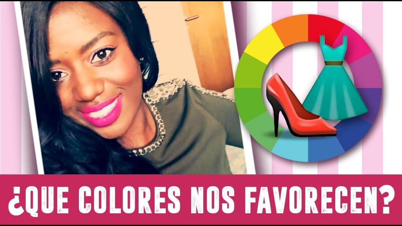Que colores nos favorecen pieles negras youtube - Colores que favorecen ...