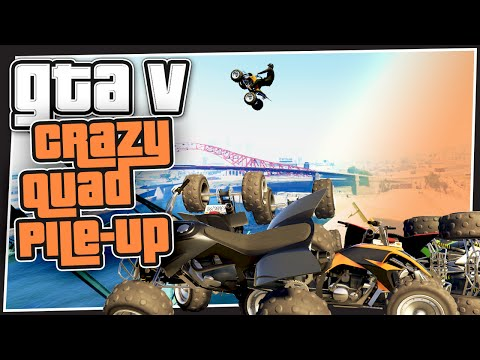 GTA 5 Online - Crazy Quad Pile Up (GTA Custom Games Funny Moments)
