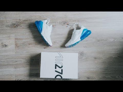 Đập Hộp + Đánh giá + On Feet đôi Nike Air Max 270 White/Metallic Silver - Hung Dinh