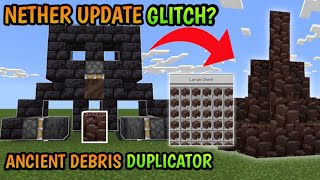 How to make an ancient debris duplicator |Minecraft nether update |