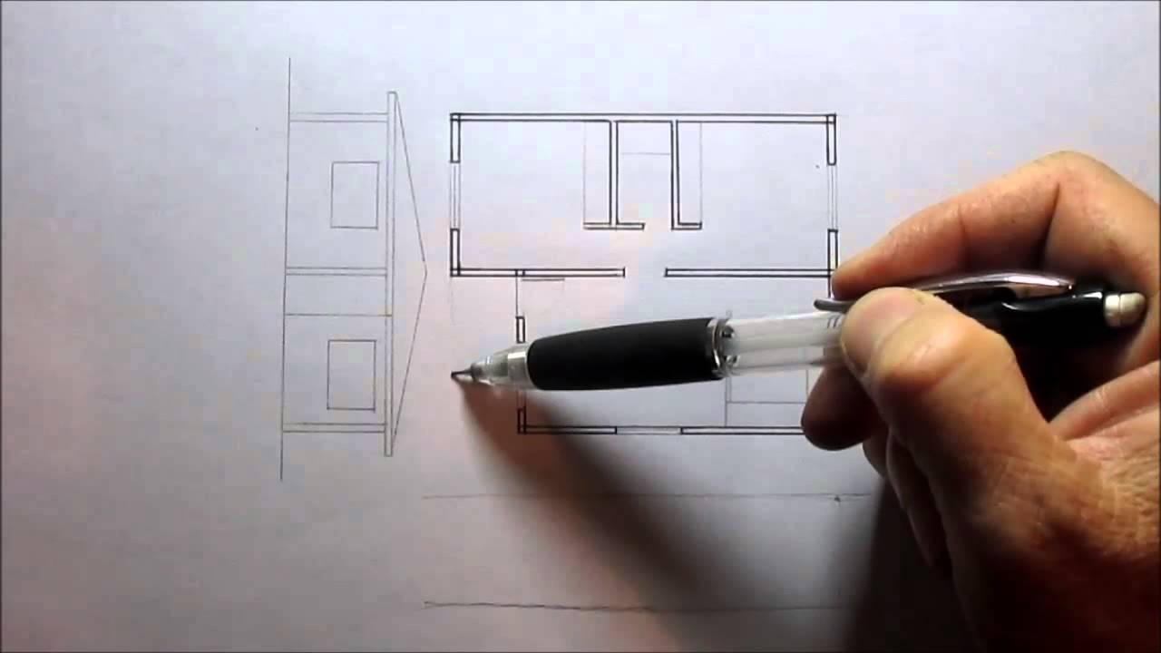 C mo levantar una fachada youtube for Como crear un plano