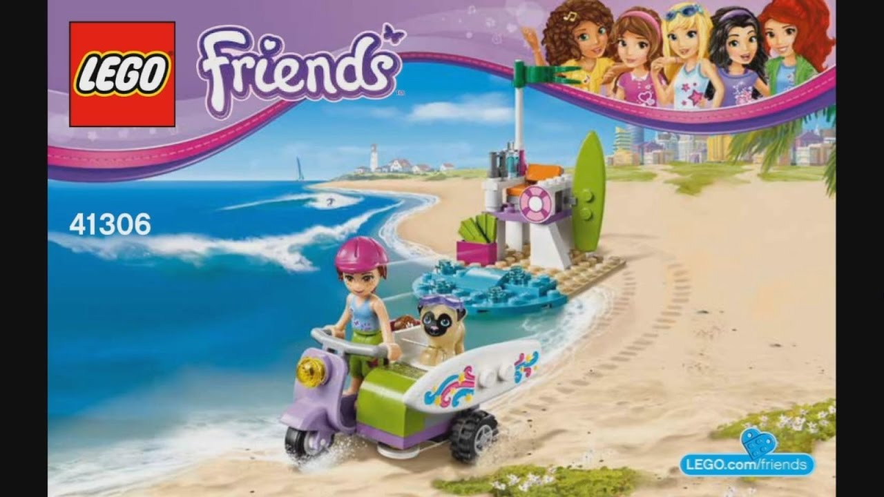 Lego Friends 41306 Mias Beach Scooter Instruction Timelapse Youtube