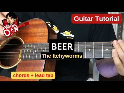 BEER GUITAR TUTORIAL: Lead Tabs And Chords Lesson