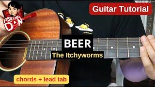 BEER guitar tutorial 🎵 lead tab and chords