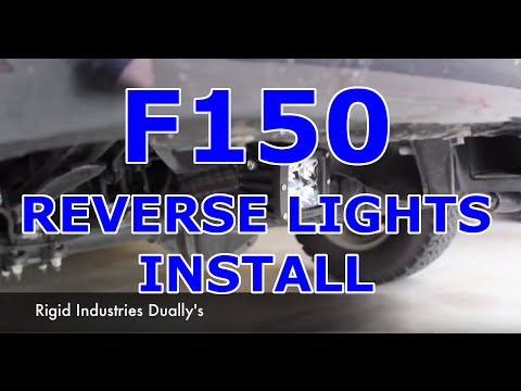 2011 F150 Reverse Flood Light Install Youtube