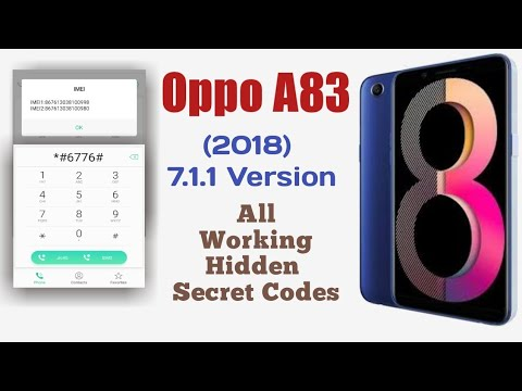 Oppo A83 (2018) Nougat Phone Working Hidden Secret Codes! Hidden Mode For Advance Option! #Oppo!