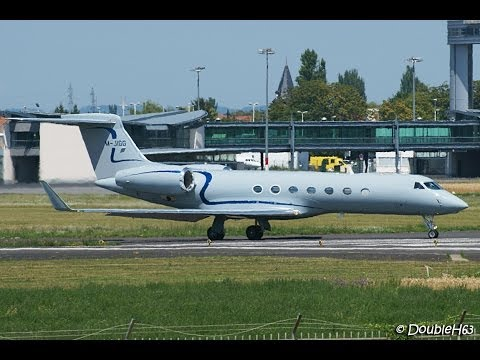 M-JIGG Private Gulfstream V Departing Clermont-Ferrand Auvergne Airport !