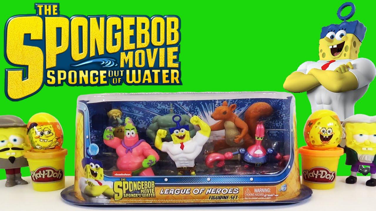 spongebob squarepants sponge out of water movie league of heroes toy play set opening review youtube - Spongebob Bedroom Set