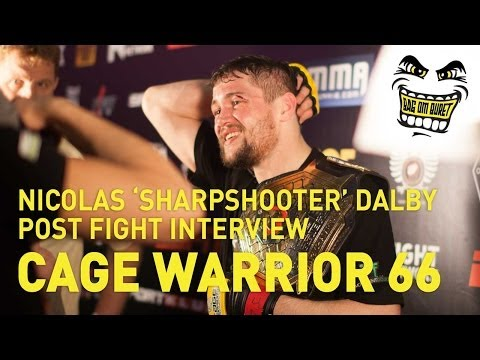 NICOLAS 'SHARPSHOOTER' DALBY POST FIGHT INTERVIEW CAGE WARRIORS 66